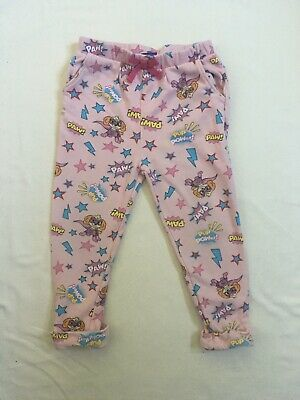 Preloved George Paw Patrol Skye Print Girls Toddler Pink Joggers 3-4 Years