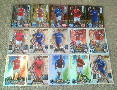 15 X Topps Match Attax Limited Edition Cards Gold/Silver/Bronze Various Seasons