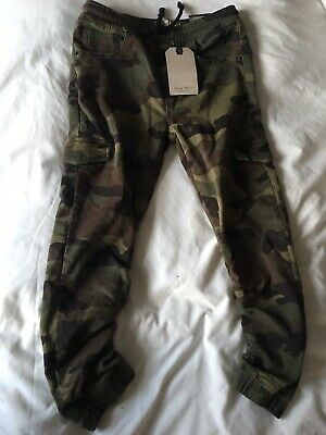 Boys Zara Cargo Army Trousers Age 8 Years