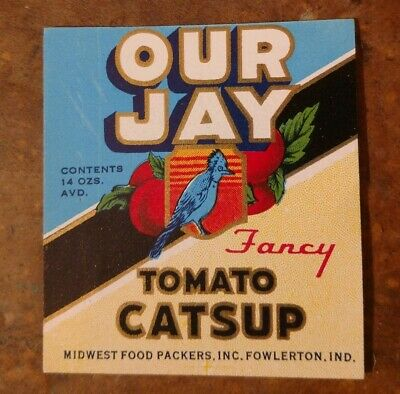 MISSISSIPPI BABY TOMATO CATSUP LABEL File Copy Very rare 1930/'s CRYSTAL SPRINGS