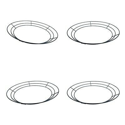 """4pcs Wire Wreath Frame Floral Crafts Form Wedding Holiday Party Decor 10/""""12/"""""""