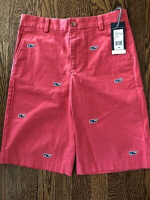 Vineyard Vines Shorts Boys Classic Fit Whale Embroidered Red Breaker Short 16E