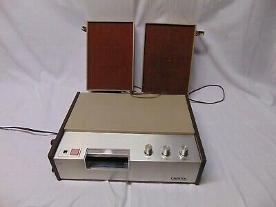 Vintage Capitol Custom 8 Track Player with Detactable Speakers VP811 USA Brown