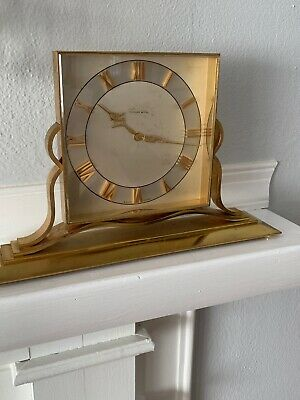 Vintage TIFFANY AND CO.  Manual Wind BRASS 8 DAY CLOCK (Working)