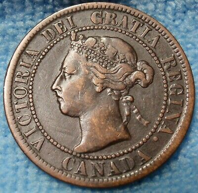 1899 Fine High Grade CANADA LARGE CENT Victoria COIN CANADIAN..