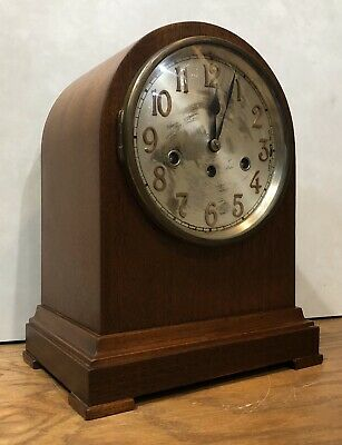 German Junghans Tombstone Beehive Westminster Chime Mantel Bracket Clock