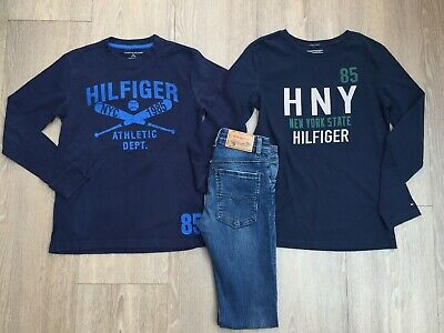BOYS GENUINE Tommy Hilfiger & DIESEL JEANS OUTFIT BUNDLE, AGE 8-10 YEARS