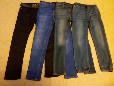 Next Boys Blue Jeans Bundle x 4 Pairs Age 10 Skinny Smart Jogger Casual VGC