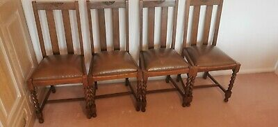 solid oak set of four edwardian dining chairs,family owned from new,lovely cond.