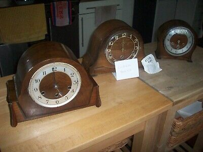 3 X Old Clocks Selling For Parts