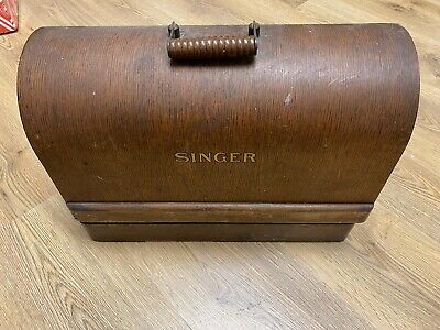 Vintage Singer Sewing Machine With Done And Paperwork