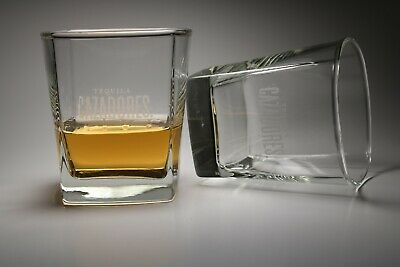Set Of 2 Tequila Cazadores Drinking Glasses W Solid Bottoms Liquor Taster