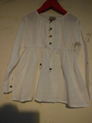 Girls White Tunic Top Next Age 5 Years Immaculate Condition