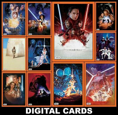 Topps Star Wars Card Trader CHROME LEGACY POSTER CARDS W2 [11 CARD ORANGE SET]
