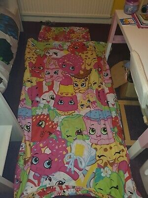Shopkins Single Duvet Cover With Single Bed Cover