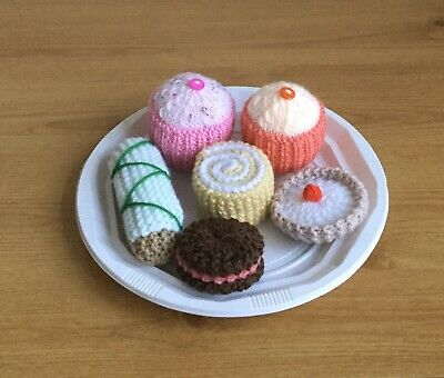 Hand knitted cakes- toy food