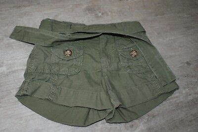 M&S Girls Age 6 Years Khaki Green Cotton Shorts Marks And Spencer Used