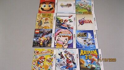 lots 12 booklet nintendo 3ds only ----no game includ   read