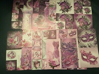 "Hunkydory Picture Perfect Amethyst Dreams  8"" x 8""  Paper Sample Pack 12 Sheets"