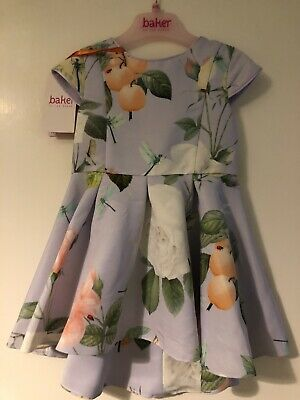 BNWT Baby Girls Designer Ted Baker Lilac Floral Occasion Dress 12-18m🎀