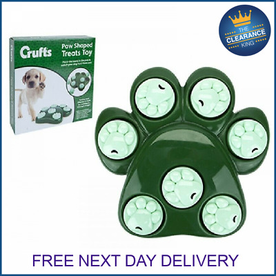 Crufts Dog Pet Fun Tough Treat Hide Puzzle Toy Food Dispenser Interactive Play