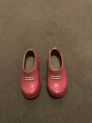 Hunter Wellies Shoes Girls Pink Toddler Uk Size 7