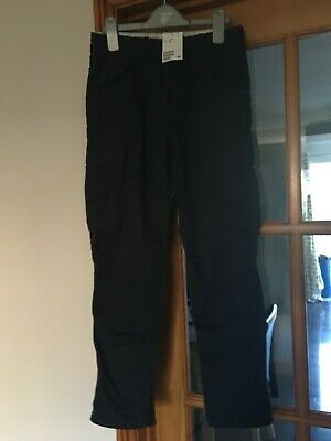 Bnwt Boys Navy Padded Combat Trousers ~ Age 11-12 Years ~ H&M