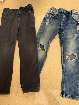 Boys Next Ripped & Primark Jeans Age 5/6 Years Bundle