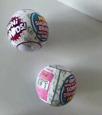 5 Surprise Mini Brands Collectible Ball | Set Of 2 | By Zuru | In Hand Lot