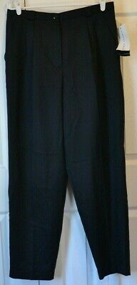 NWT - Requirements - Dress Pants - Pleated - Womens Size 16 / Inseam 31 - Black