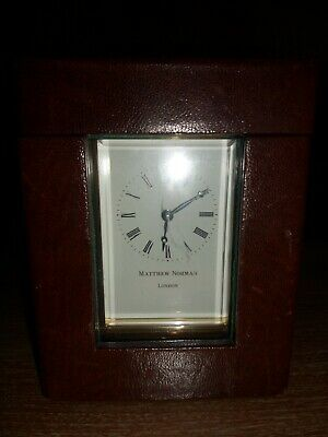Matthew Norman of London Vintage Carriage Clock with Travel Case