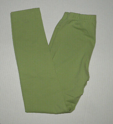 Hanna Andersson Solid Green Livable Leggings  Girls 140 Cotton Fall
