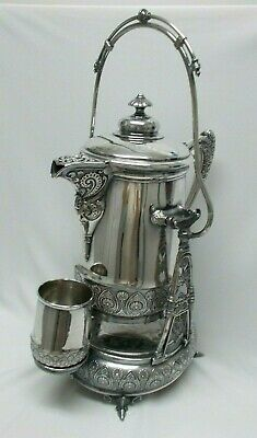 Antique Rogers Silverplate Tilt ICE WATER PITCHER & STAND Circa 1900 Saves Pets