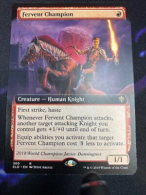 Fervent Champion - Extended Art Throne of Eldraine Magic mtg NM-Mint, English x1