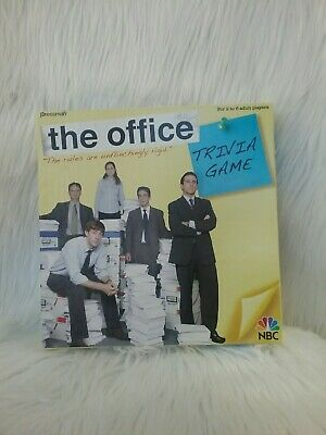 Lightly Used The Office Trivia Board Game Pressman 2008 NBC.100% Complete