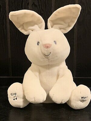 Gund Baby Flora The Bunny Peek-a-Boo Animated Talking Singing Plush Toy 12""