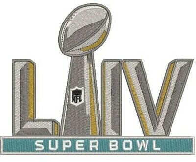 "SUPER BOWL 54 LIV Champions 5"" Embroidered Patch 2019 2020 Iron On SHIPS FREE!!-"