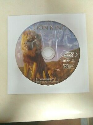 Lion King Disney (2019,live action)  Blu-ray disc ONLY (no case, no artwork)