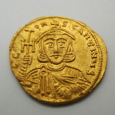 741-775 AD Constantine V with Leo III Gold Coin SOLIDUS Byzantine Empire ANCIENT