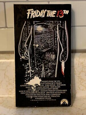 Friday the 13th Part 1 VHS Gateway Video Jason Voorhees Horror Camp Crystal Lake