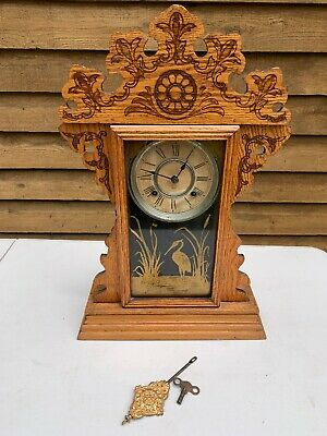 Antique Ansonia NY Mantle Clock; Made In USA; Collectable; Working