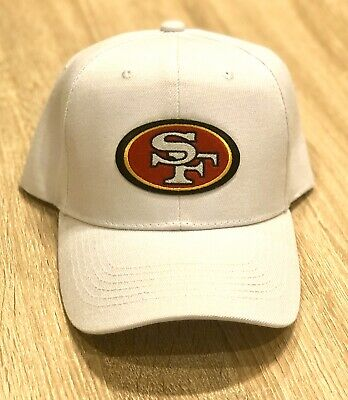 SAN FRANCISCO 49ERS NFL Patch Style Cap Hat 2019 WHITE Adjustable NFC CHAMPIONS