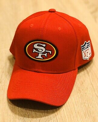 SAN FRANCISCO 49ERS NFL Patch Style Cap Hat 2019 RED Adjustable NFC CHAMPIONS !