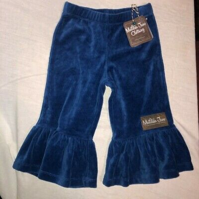 Matilda Jane Toddler Girls Size 2 Blue Cotten Blend Ruffle Pants
