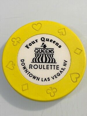 FOUR QUEENS ROULETTE Casino Chip Las Vegas Nevada 3.99 Shipping