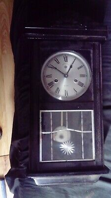 Vintage wall clock C.Wood & sons, 15 days winding, nice gong