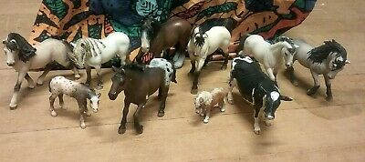 Lot Of 10 Schleich Horses Cow 2000 -2012