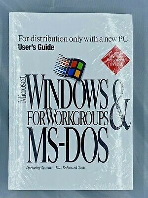 Microsoft  Windows for Workgroups & MS-DOS plus Enhanced Tools 2896