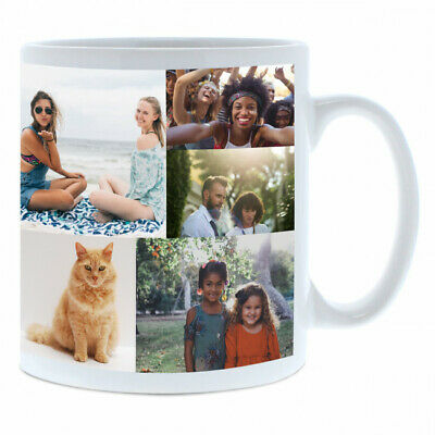 Personalised Mug  7 Photo Collage Cup Birthday Christmas Mother Father Day Gift