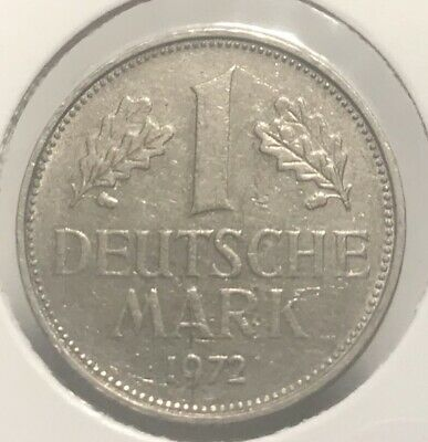 1972 F - 1 Mark - Germany - Sort After Coin !